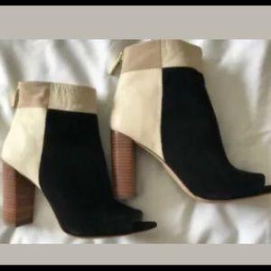 Louise Et Cie Leather & Suede Open Toe Bootie